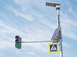 К новому году установят подсветку «зебр» на солнечных батареях
